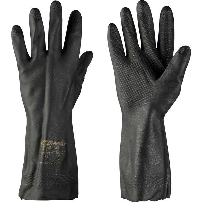 Gants de travail - Spécial carreleur - Polychloroprène / Latex - Noir-1