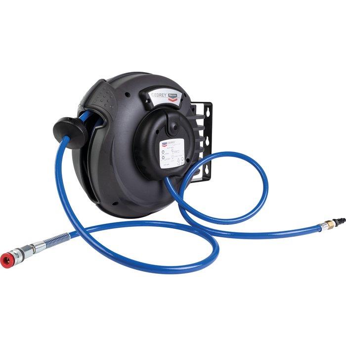 Enrouleur automatique pour tuyau d'air et eau froide - Longueur 12 m