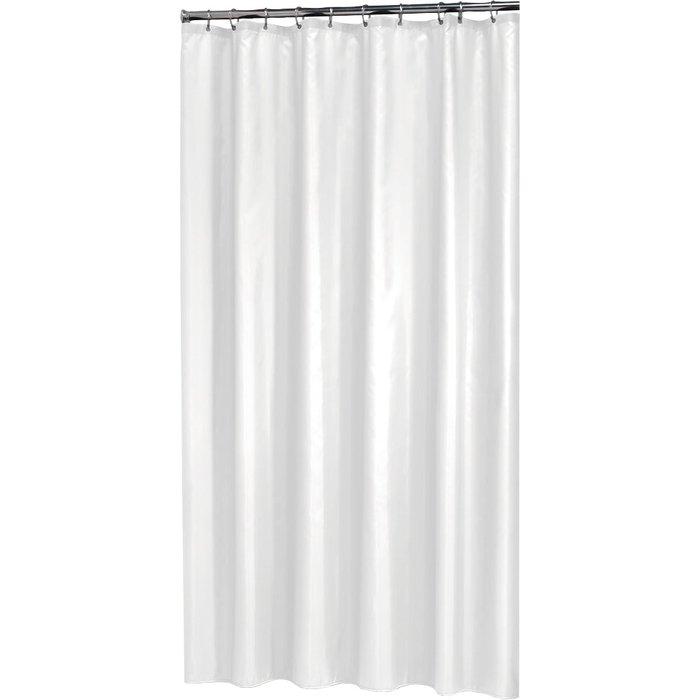 Rideau de douche PVC - Blanc-1