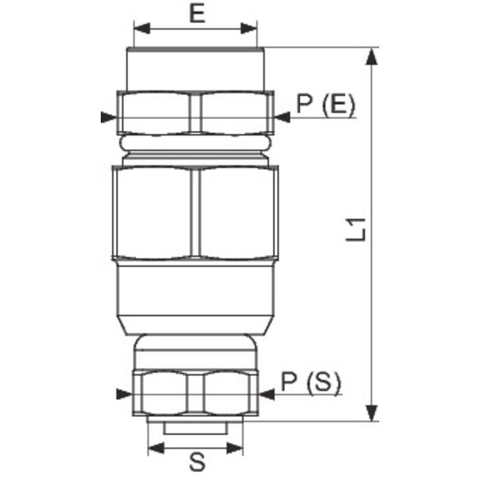 Raccord de transition PLT Flexiclic - Femelle - Joint plat-1