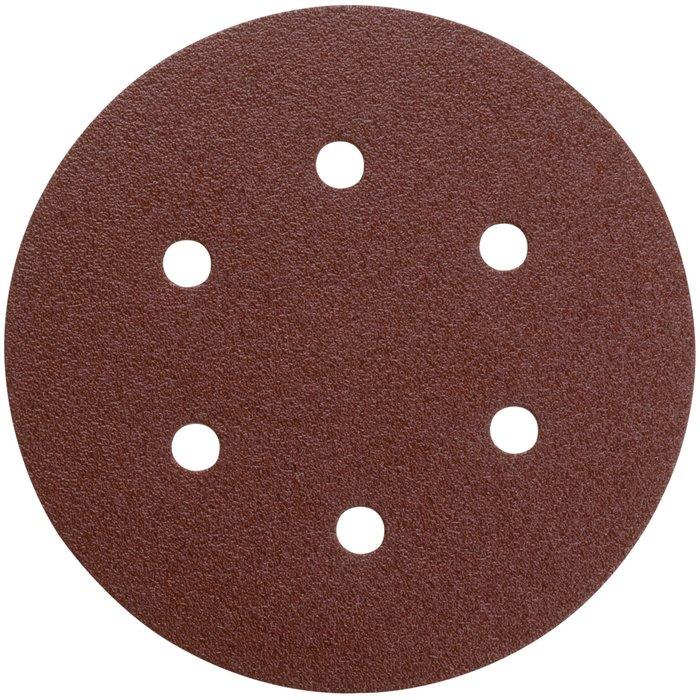 Disque abrasif auto-agrippant - Papier - Diamètre 150 mm - 6 trous-1