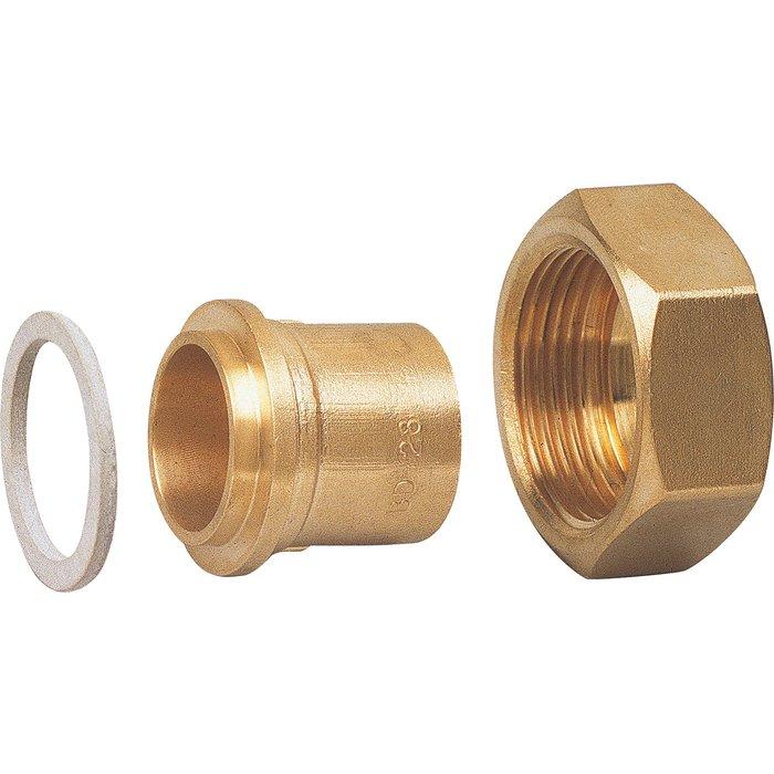Raccord droit - 2 pièces - Spécial gaz naturel - À souder sur cuivre-1