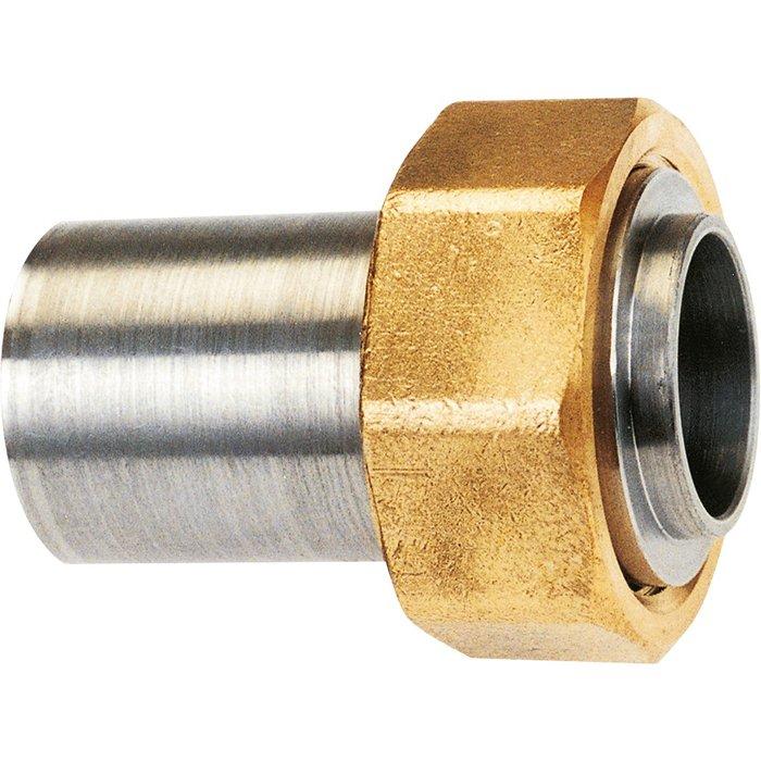 Raccord droit - 2 pièces - Spécial gaz naturel - À souder sur acier-1