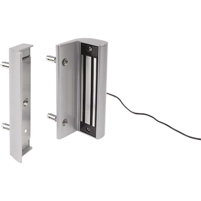 Ventouse électromagnétique en applique sans poignée - Pour portails battants