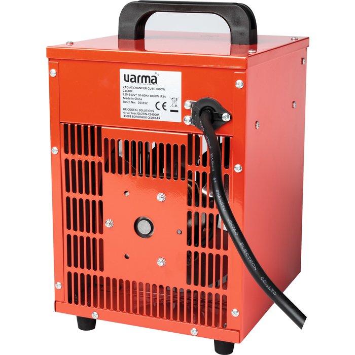 Radiateur électrique d'appoint pour chantier - Cube - Puissance 1000 / 2000 / 3000 W-6