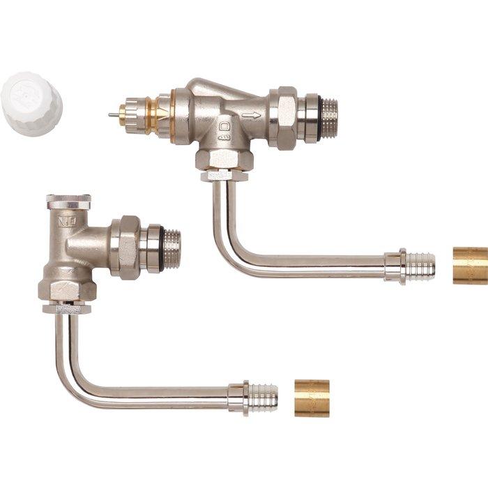 Kit hydrocablé équerre inversée RA-IN Danfoss - Coude orientable - A Glisser- 16 mm