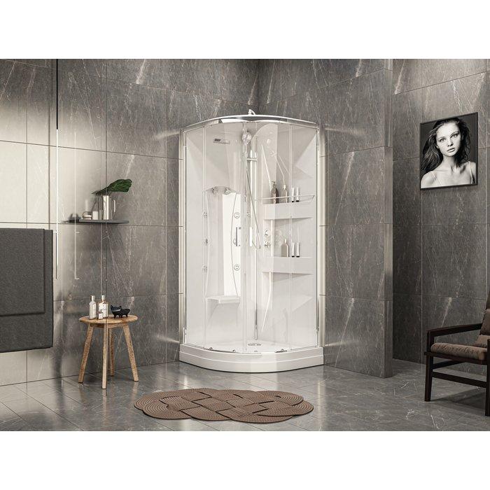 Cabine de douche Odyssée 2 - Quart de rond - Portes coulissantes - LEDA