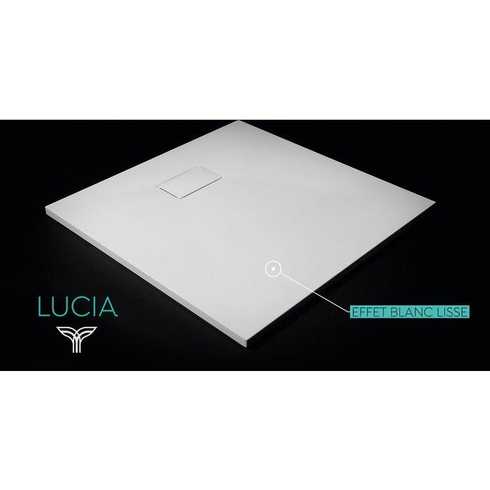 Receveur de douche blanc lisse Lucia Odyssea-10